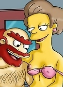 Simpsons busted banging
