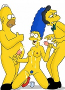 Dark eyed Terri shares perverted Homer Simpson in the bed